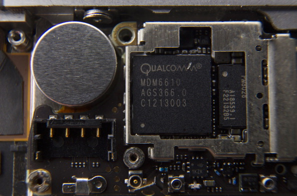 Qualcomm chip inside an iPhone
