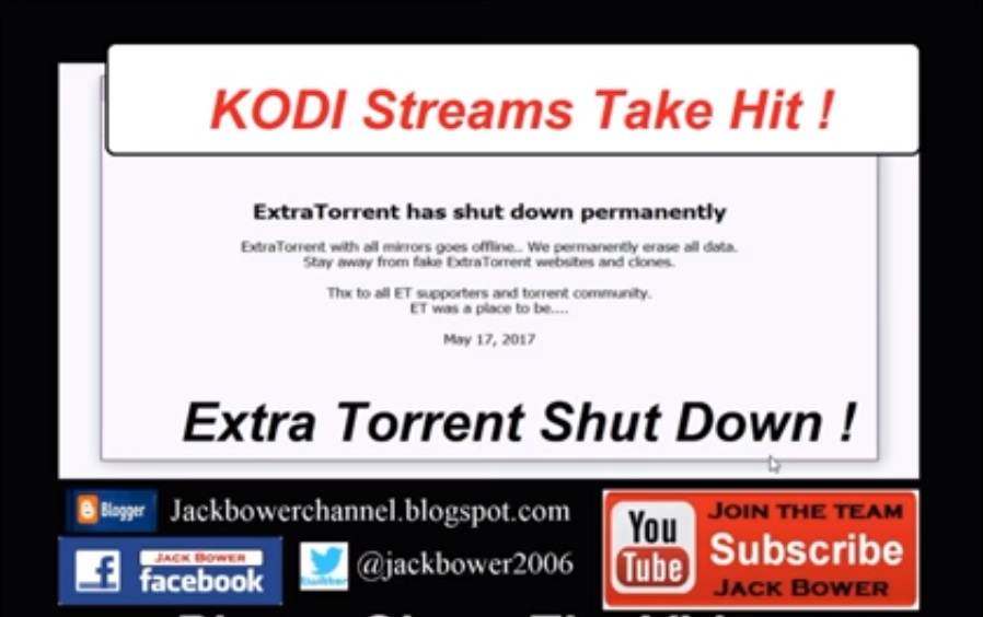 Popular Torrent Site ExtraTorrent Shuts Down out of the Blue