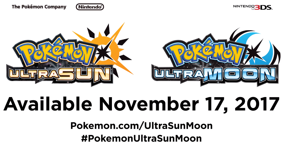 Pokemon Ultra Sun & Ultra Moon announced for 3DS