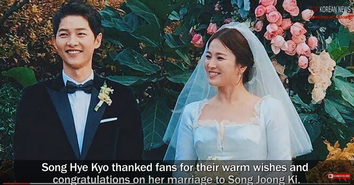Bride Song Hye Kyo Shows Off Her Wedding Photos She Spoke For The First Time After