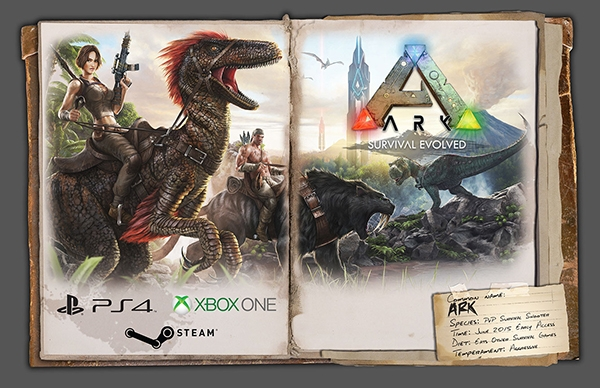Book Cover Background Xbox One : 'ark survival evolved xbox one video released console